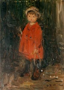 Marijke in rood jasje